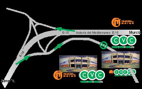 Desde Almería o Murcia, Salida 481, dirección Campohermoso.